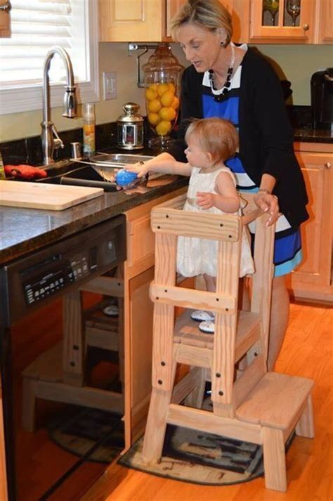 kids kitchen helper step stool montessori inspired solid