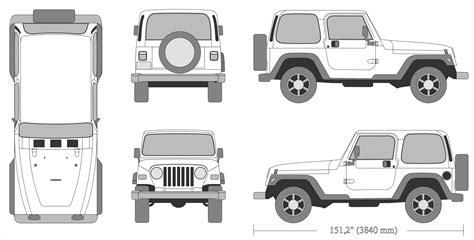 jeep wrangler  blueprint   blueprint
