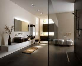 bad creme braun moderne badezimmer mit minimalistischem design toto