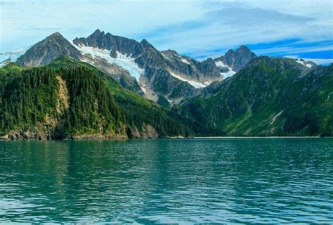 nature landscape mountains fjord forest summer snowy