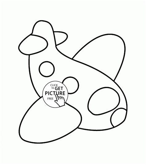 simple plane coloring pages 186 | simple plane coloring page for preschoolers img