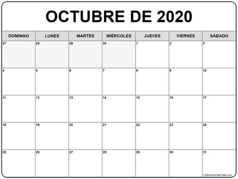 octubre de calendario gratis calendario octubre