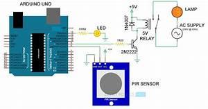 Automatic Room Lights Using Arduino And Pir Sensor