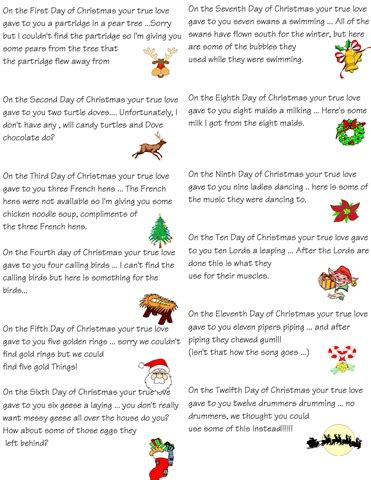 12 days of christmas theme gift ideas for coworkers those tiny toes twelve 12 days of ideas