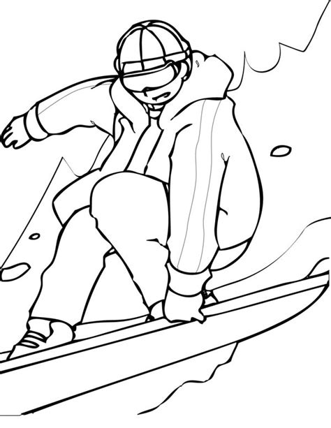 snowboarding coloring pages  childrens printable