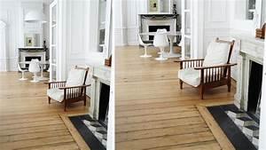 Carrelage En Forme De Parquet : 20 sols associant carrelage et bois rev tement de sol ~ Premium-room.com Idées de Décoration