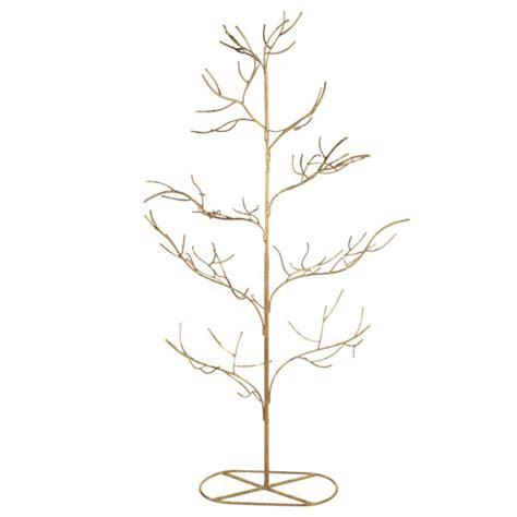 gold twig metal christmas tree