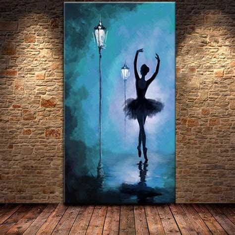hand painted modern abstract ballerina oil paintings