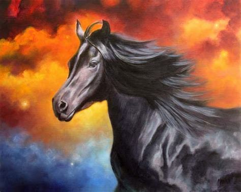 """This is due to a couple reasons: Marina Petro ~ Adventures In Daily Painting: Black Thunder, Horse Painting, """"Equine Oil Painting ..."""