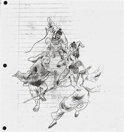 Bruce Lee Drawing Sketches Martial Arts Draw