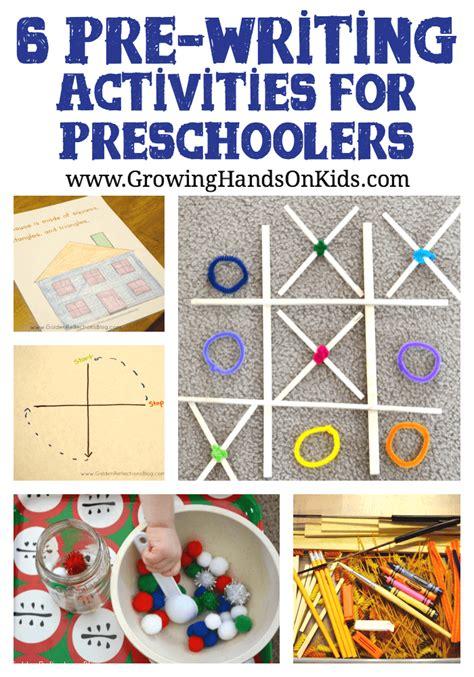 6 pre writing activities for 608 | 6 prewriting activities for preschoolers PIN