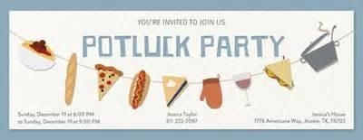 potluck invitations evite