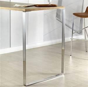 Pied De Table Metal : pied de table metal hauteur 87 cm ~ Teatrodelosmanantiales.com Idées de Décoration