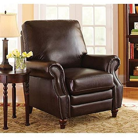 leather recliners antique better homes and gardens nailhead leather recliner wm3474 3700