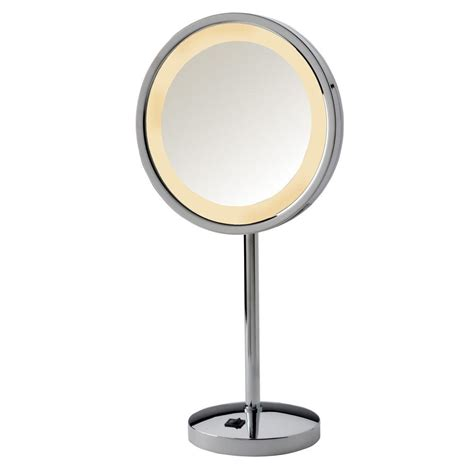table top mirror with lights jerdon 9 75 in x 17 5 in led lighted table top mirror in