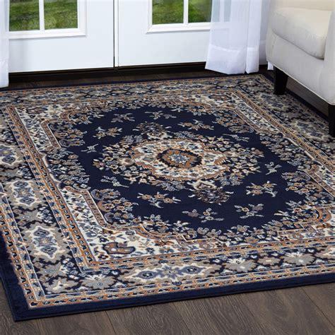 blue rug ebay traditional medallion area rug style