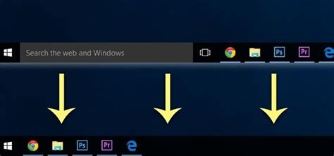 how to get rid of the search bar task view button in the taskbar on windows 10 windows tips