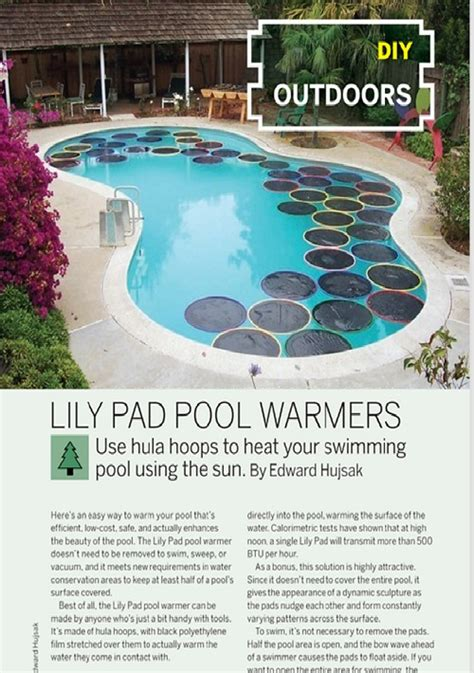 weekend project lily pad pool warmers   diy
