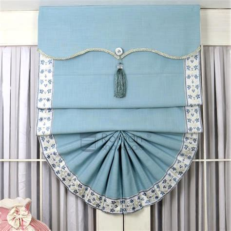 fan shaped window shades affordable fan shaped blue roman shades for doors with valance