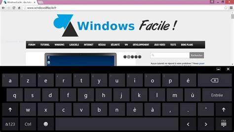 Activer le clavier virtuel de Windows