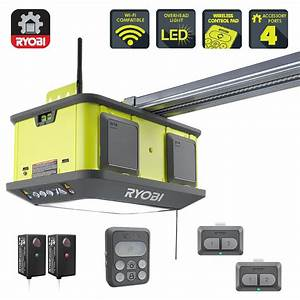 Ryobi Belt Garage Door Opener 1 4 Hp Keyless Entry Wi