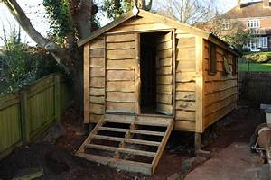 Rustic shed with pitched roof The Wooden Workshop