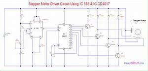 555 Timer Stepper Motor Controller Circuit