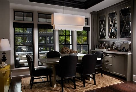 Dining Room With Bar by Bar Cabinet With Rectangular Dining Table Kitchen