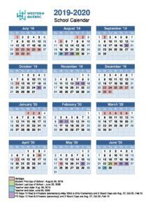 school calendar western quebec school board