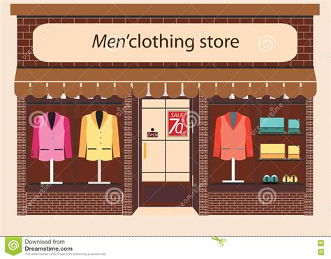 Image Clothing Store Clothing Store Boutique Stock Vector Illustration Of