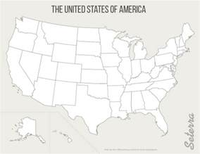 Printable Blank 50 States Map