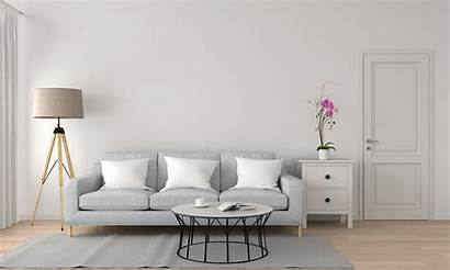 Minimalist Living Perfect Interior Rendering Sofa Neutral
