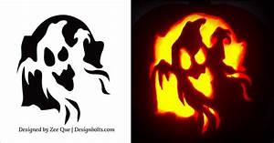5 easy yet simple halloween pumpkin carving patterns stencils for kids 2015 With ghost carving pumpkin patterns