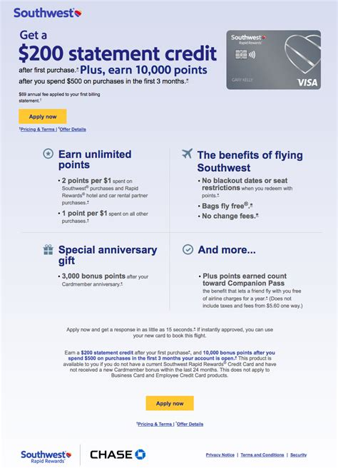 The best airline credit card to earn up to 40,000 bonus points once opening. Rapid rewards credit card $200 dollar statement SC... - The Southwest Airlines Community