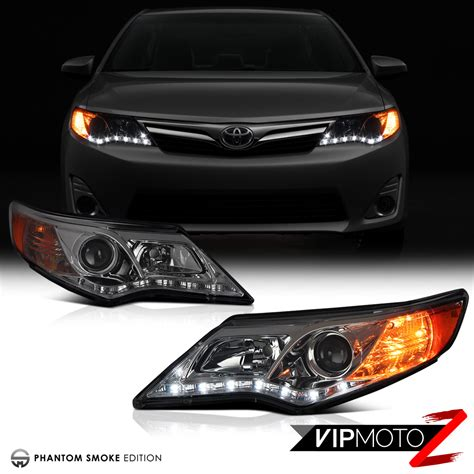Toyota Camry Headlights by Smoked Lens 2012 2014 Toyota Camry Front Led Drl
