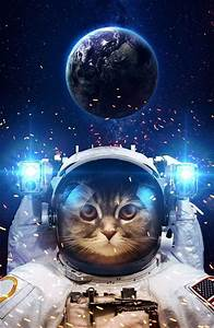 Cool Astronaut Cat In Outer Space Poster | TeeShirtPalace