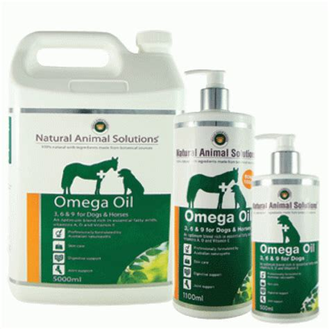 natural animal solutions omega oil    dogs