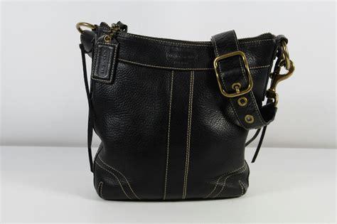 Coach Black Cowhide Leather Pebbled Zipper Tote Shoulder