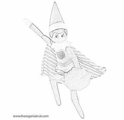 Elf Shelf Coloring Colouring Sheets Sheet Pages