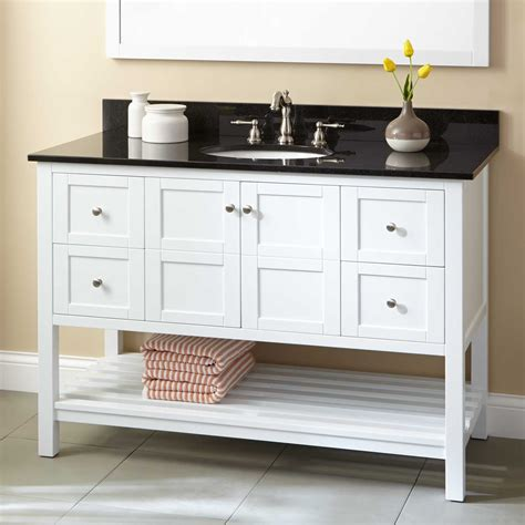 48 quot everett console vanity for undermount sink white