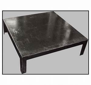 Table Basse En Metal : table basse m tal brut ~ Teatrodelosmanantiales.com Idées de Décoration
