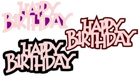 Free svg files to download. Happy bday   Free svg, Svg free files, Cricut birthday cards