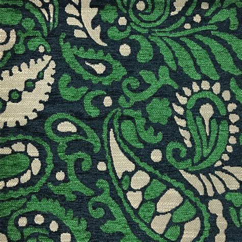 Upholstery Fabric Sydney by Sydney Modern Paisley Pattern Chenille Upholstery Fabric