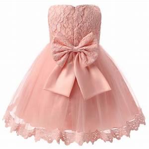 big bow lace newborn party wedding dress With infant wedding dresses