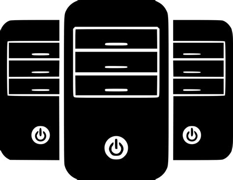 App market, mailboxes, online stores, seo wizard, blog Servers Server Towers Hosting Svg Png Icon Free Download ...