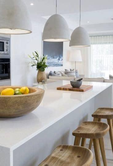 concrete pendant lights   kitchen love