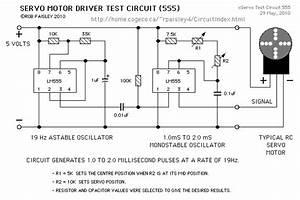 Servo Motor Test Circuit  Lm555