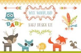 baby design wee woodland baby design kit illustrations on creative market