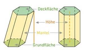 grundfläche zylinder eigenschaften oberflächen und volumenberechnung körpern