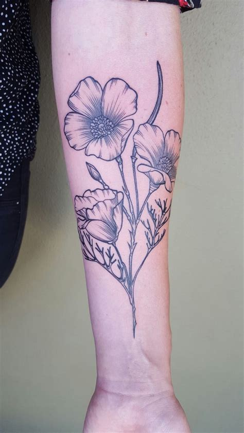 poppy tattoo images  pinterest
